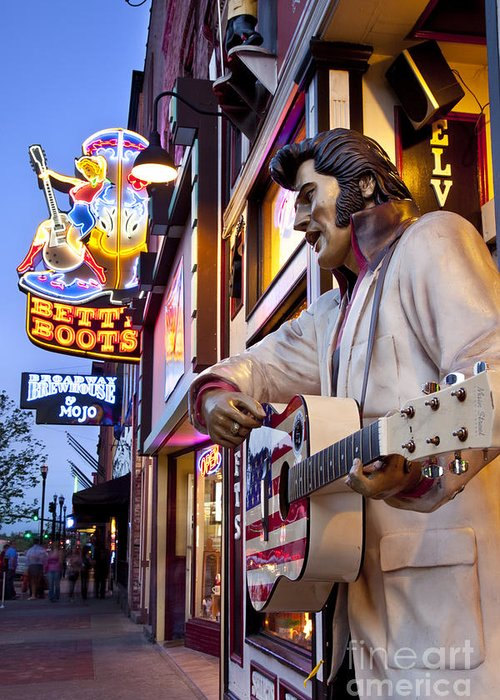 Nashville Greeting Card featuring the photograph Music City Usa by Brian Jannsen