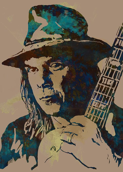 Neil Young Drawings Greeting Cards