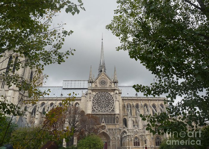 Paris Greeting Card featuring the photograph Notre Dame Cathedral by Deborah Smolinske
