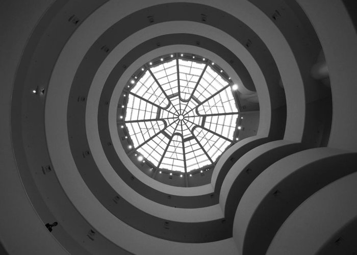 Ny Greeting Card featuring the photograph Nyc Guggenheim by Nina Papiorek