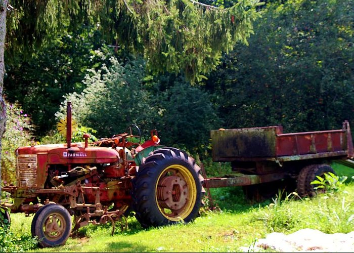 Greeting Card featuring the photograph Old Tractor by Ronald Hanson