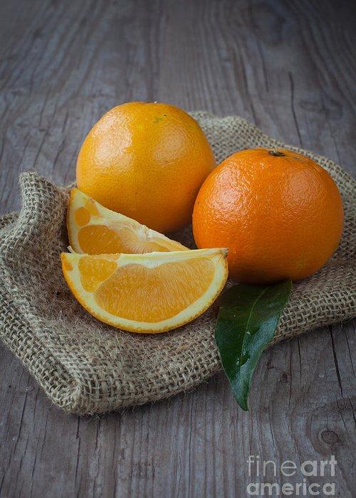 Tangerine Greeting Card featuring the photograph Orange Fruit by Sabino Parente