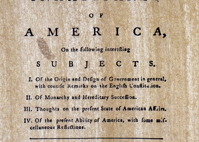 1776 Greeting Card featuring the photograph Paine: Common Sense, 1776 by Granger