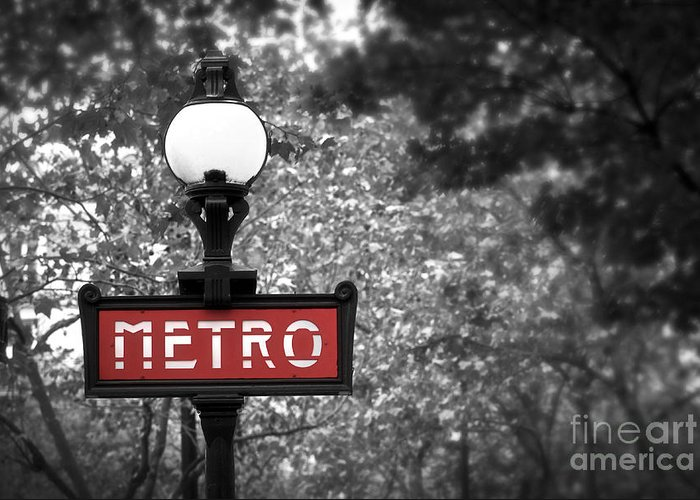 Architecture Greeting Card featuring the photograph Paris Metro by Elena Elisseeva