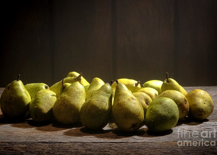 Pears Greeting Card featuring the photograph Pears by Olivier Le Queinec