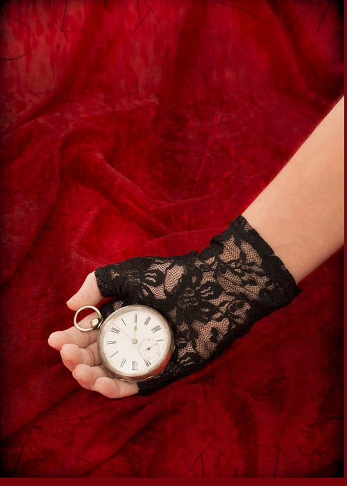Girl Greeting Card featuring the photograph Pocket Watch by Amanda Elwell