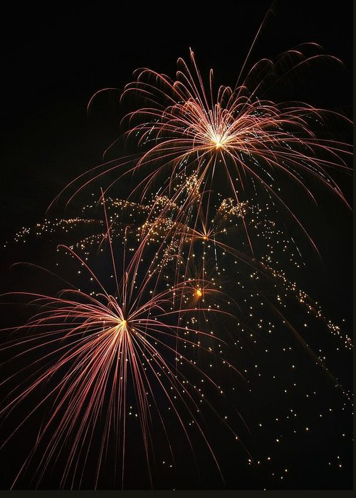 Fireworks Greeting Card featuring the photograph 2 Pop Fireworks by David Parsley