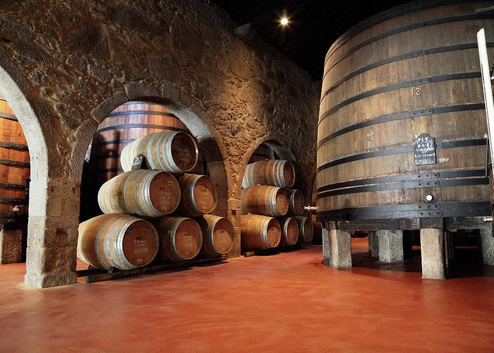 Fermenting Greeting Card featuring the photograph Porto Wine Cellar by Vuk8691