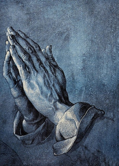 Albrecht Durer Greeting Card featuring the digital art Praying Hands by Albrecht Durer