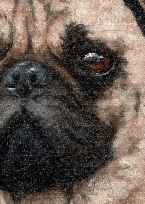 Pug Face Greeting Cards