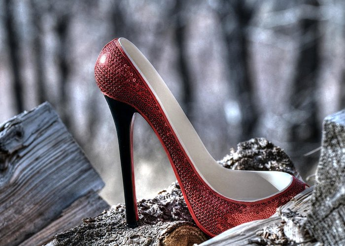 Shoe Greeting Card featuring the photograph Red Shoe by Sheila Faryna