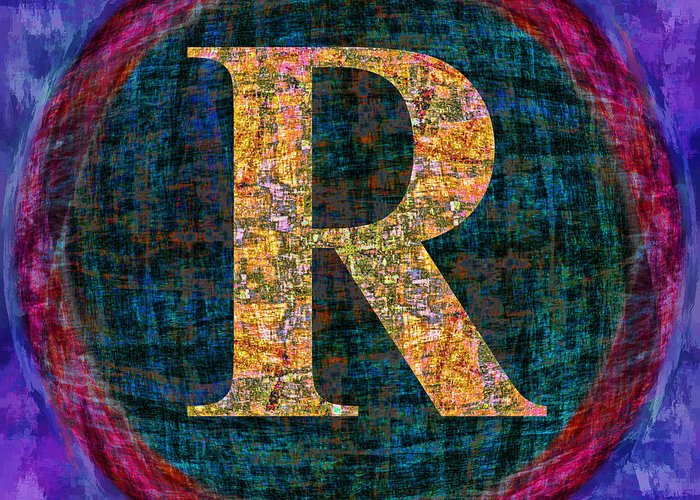 Registered Greeting Card featuring the digital art Registered Trademark Symbol by Gregory Scott