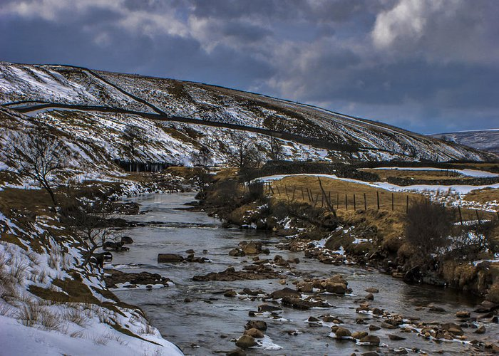 River Greeting Card featuring the photograph River Swale by Trevor Kersley
