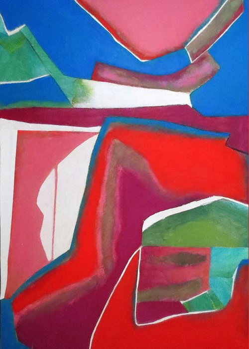 Abstract Expressionism Greeting Card featuring the mixed media Salsa by Diane Fine