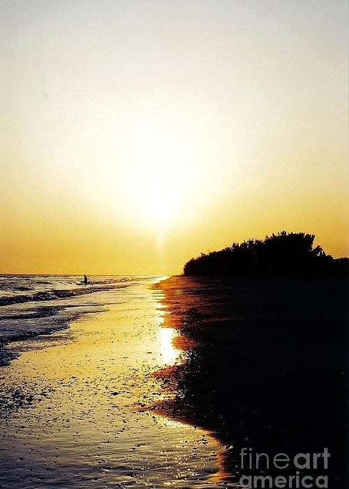 Sunset Greeting Card featuring the photograph Amazing Sanibel Sunset by D Hackett