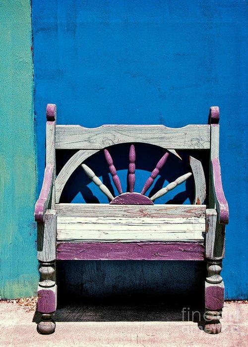 Santa Fe Chair Greeting Card featuring the photograph Santa Fe Chair by Elena Nosyreva