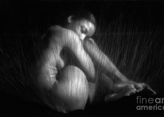 Nude Greeting Card featuring the photograph Sas 1 by Tony Cordoza