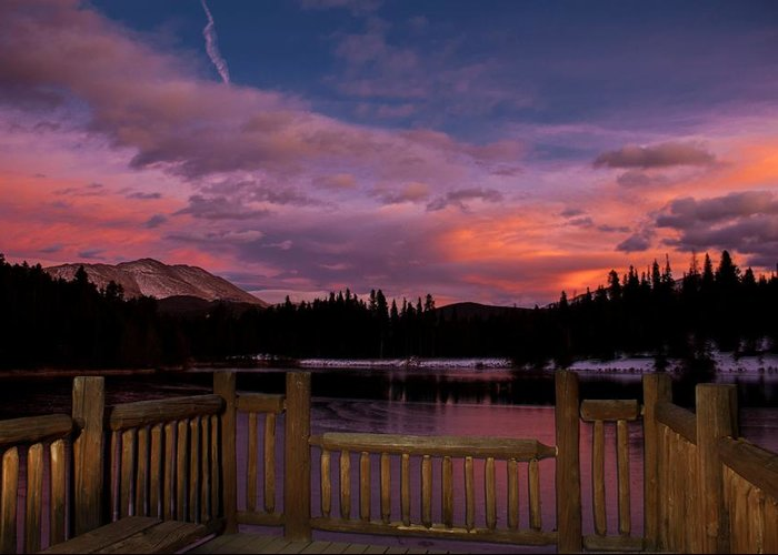 Landscape Greeting Card featuring the photograph Sawmill Lake Sunset by Michael J Bauer
