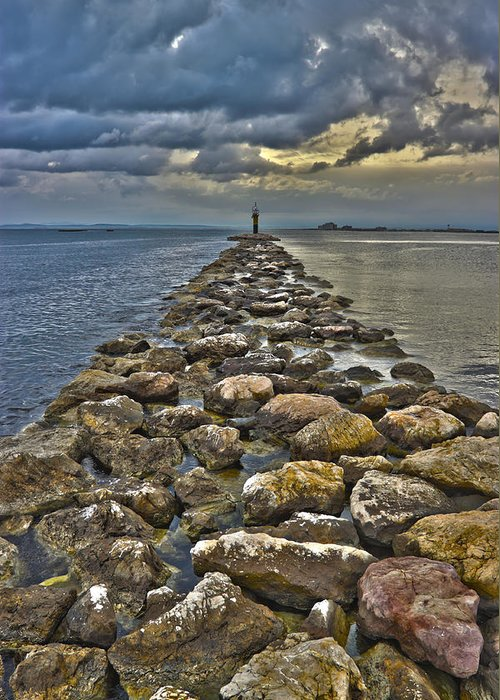 Stones Greeting Card featuring the photograph Sea by Antonio Macias Marin