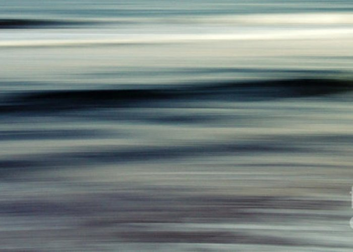Abstract Greeting Card featuring the photograph sea by Stelios Kleanthous