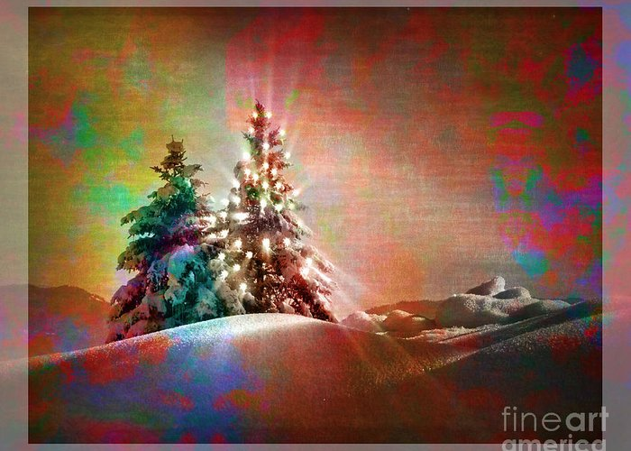Digital Art Greeting Card featuring the photograph Season's Greetings by Edmund Nagele