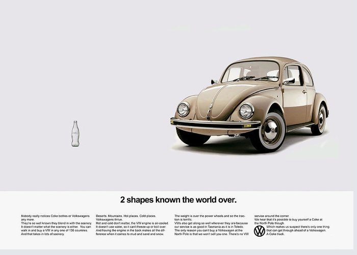 Volkswagen Greeting Card featuring the photograph 2 Shapes Known The World Over by Mark Rogan