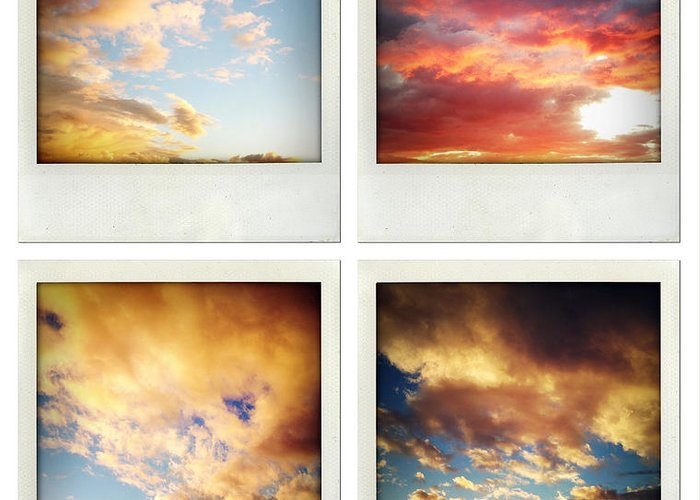 Cloud Greeting Card featuring the photograph Skies by Les Cunliffe