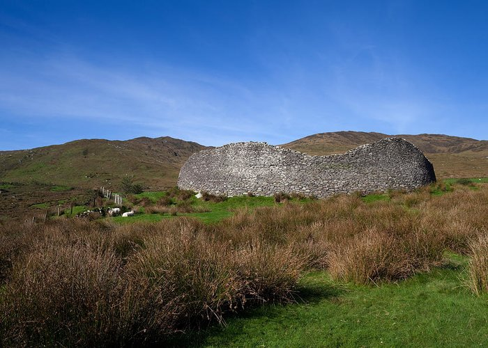 Photography Greeting Card featuring the photograph Staigue Fort At 2,500 Years Old One by Panoramic Images