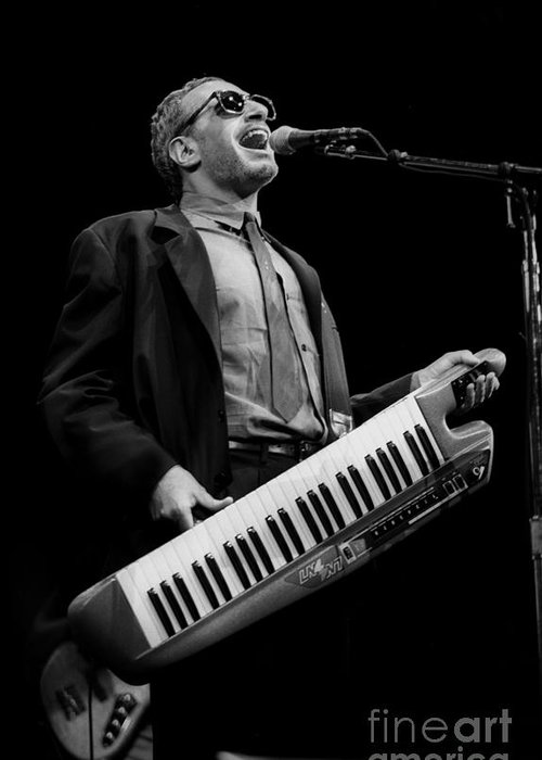Musician Greeting Card featuring the photograph Steely Dan - Donald Fagen by Concert Photos
