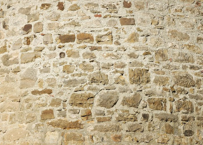 Stone Wall Greeting Card featuring the photograph Stone Wall by Matthias Hauser