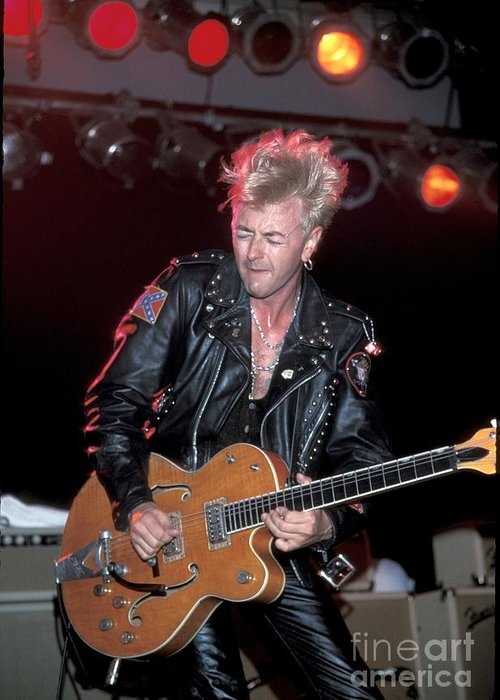 Guitarist Greeting Card featuring the photograph Stray Cats - Brian Setzer by Concert Photos