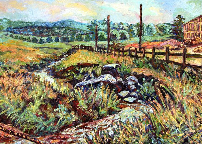 Landscape Paintings Greeting Card featuring the painting Stroubles Creek by Kendall Kessler