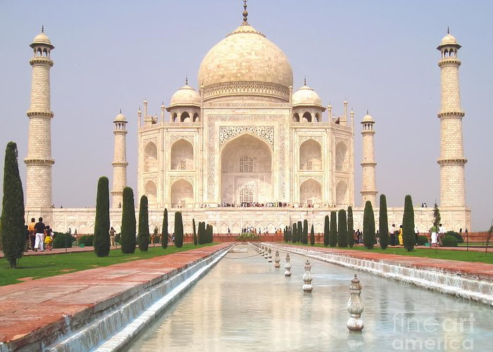 Taj Mahal Greeting Card featuring the photograph Taj Mahal by Mary Pille