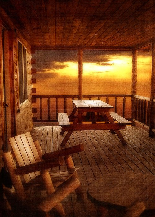 Cabin Greeting Card featuring the photograph The Cabin by Joann Vitali