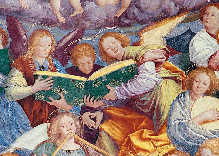 From The Dome Greeting Card featuring the painting The Concert Of Angels by Gaudenzio Ferrari