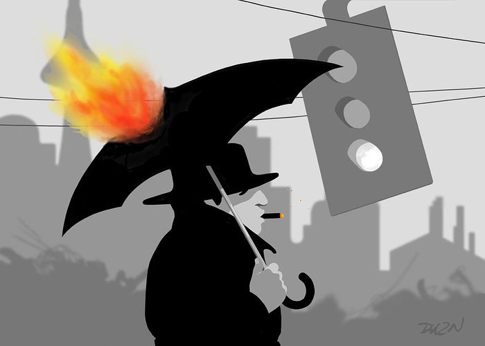 Dkzn Greeting Card featuring the digital art The Eastside Smoker by Tom Dickson