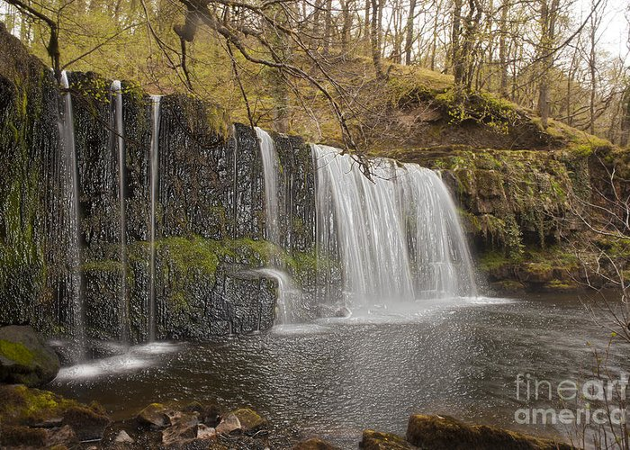 Water Fall Greeting Card featuring the photograph The Falls by Anthony Morgan
