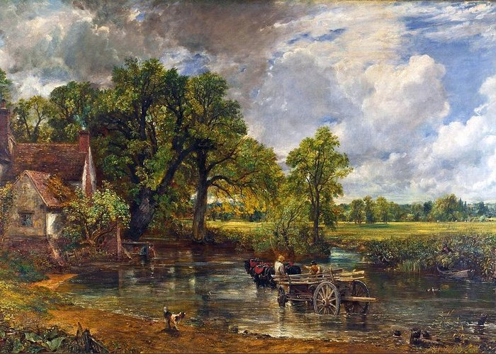 The Hay Wain Greeting Card featuring the painting The Hay Wain by John Constable
