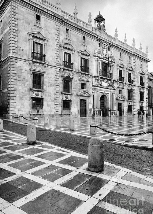 Monochrome Greeting Card featuring the photograph The Royal Chancery Of Granada by Guido Montanes Castillo