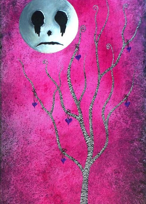 Surreal Greeting Card featuring the painting The Zebra Effect 3 by Oddball Art Co by Lizzy Love