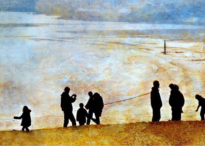 Landscape Greeting Card featuring the photograph They Gather Here by Diana Angstadt