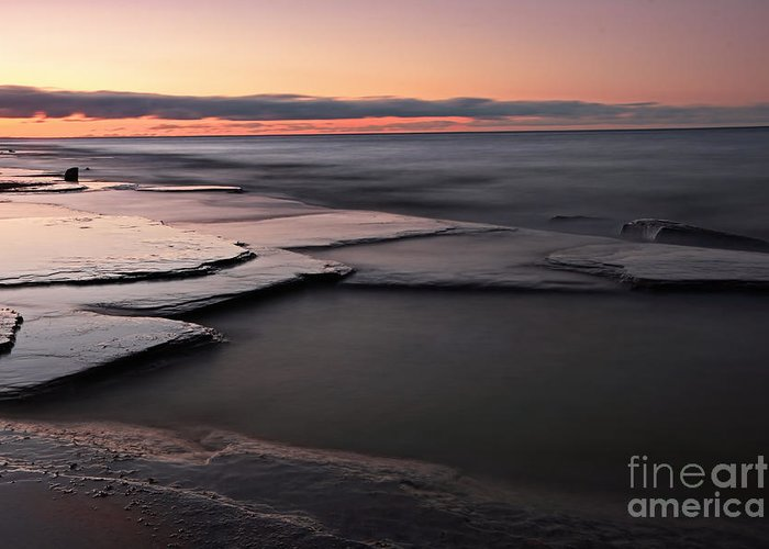 Seascape Greeting Card featuring the photograph Tranquil Beach by Charline Xia