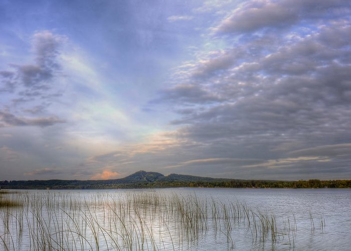 Sleeping Greeting Card featuring the photograph Traverse Lake by Twenty Two North Photography