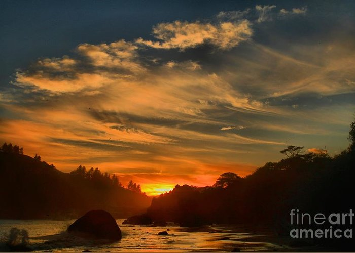 Trinidad State Beach Greeting Card featuring the photograph Trinidad Beach Sunset by Adam Jewell