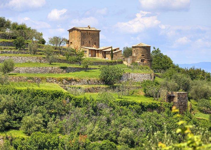 Montalcino Greeting Card featuring the photograph Tuscany - Montalcino by Joana Kruse