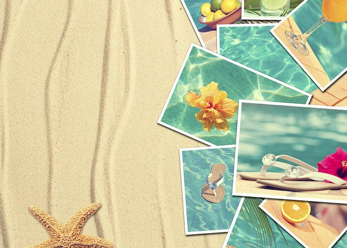 Sand Greeting Card featuring the photograph Vacation Postcards by Amanda Elwell