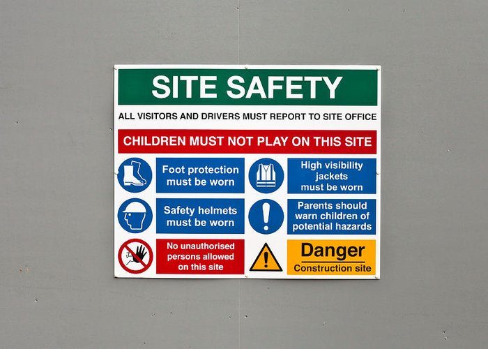Background Greeting Card featuring the photograph Warning Sign by Tom Gowanlock