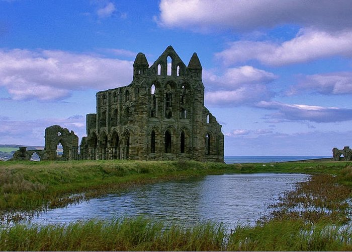 Whitby Greeting Card featuring the photograph Whitby Abbey by Trevor Kersley