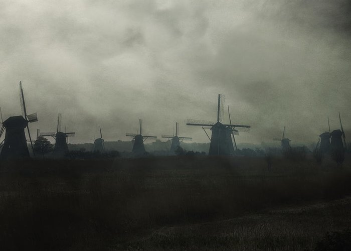 Mill Greeting Card featuring the photograph Windmills by Joana Kruse