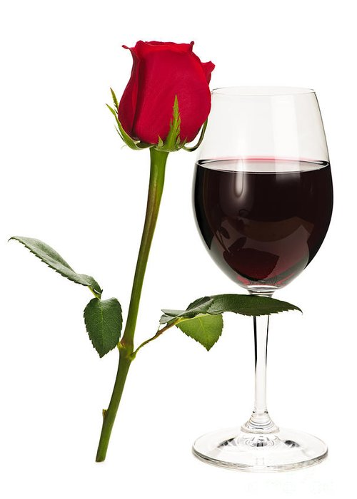 Long Stem Wine Glass Greeting Cards